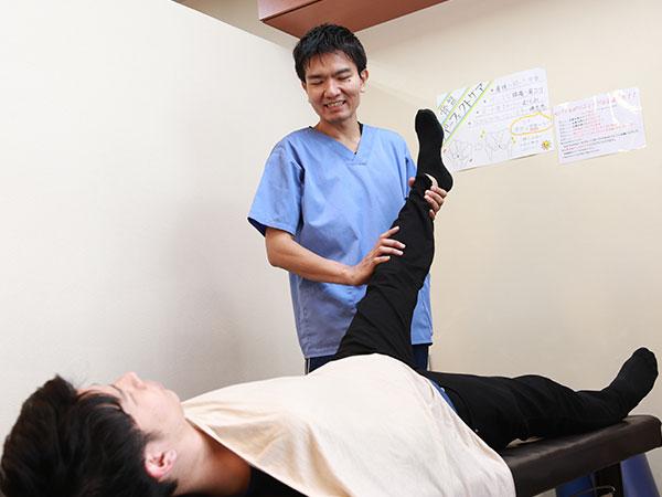 怪我や打撲の治療写真